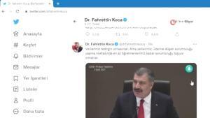 Sağlık Bakanı Dr. Fahrettin Koca, sosyal medyada DSÖ ile yarışıyor