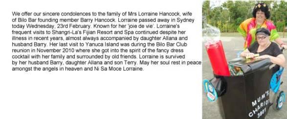 obituary for mrs lorraine hancock 03 - Obituary for Mrs Lorraine Hancock