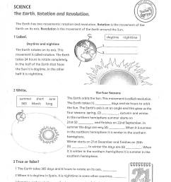 Earth Rotation Worksheet   Printable Worksheets and Activities for  Teachers [ 2200 x 1700 Pixel ]