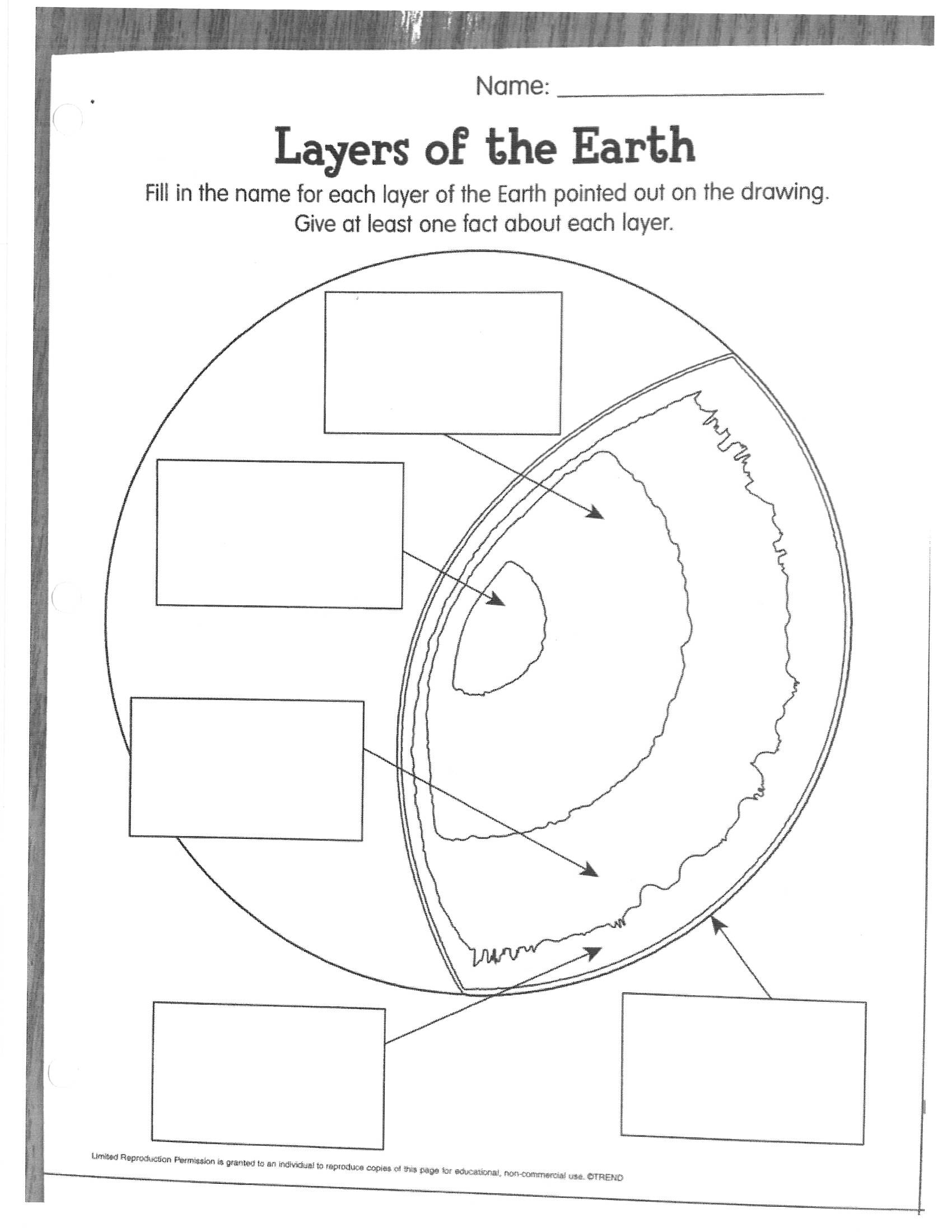35 Label The Layers Of The Earth Worksheet