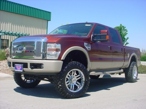 small resolution of revtek 4 5 lift kit system with drop brackets installed on 2008 2010 ford f250