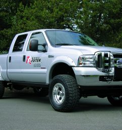 revtek 4 5 inch lift kit system with brackets on a 2005 2007 ford f250  [ 2048 x 1536 Pixel ]