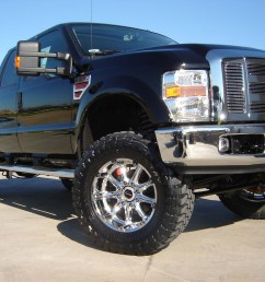 revtek 6 lift kit system with brackets on a 2008 2010 ford f250  [ 2304 x 1728 Pixel ]