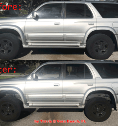 lifted 4runner 3 inch bilstein kit before and after 1996 2002 [ 1024 x 844 Pixel ]