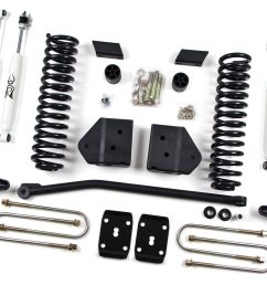 zone offroad 4 coil springs bracket lift kit 2008 2010 ford  [ 2048 x 1365 Pixel ]