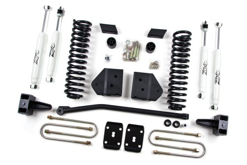 small resolution of zone offroad 4 coil springs bracket lift kit 2008 2010 ford