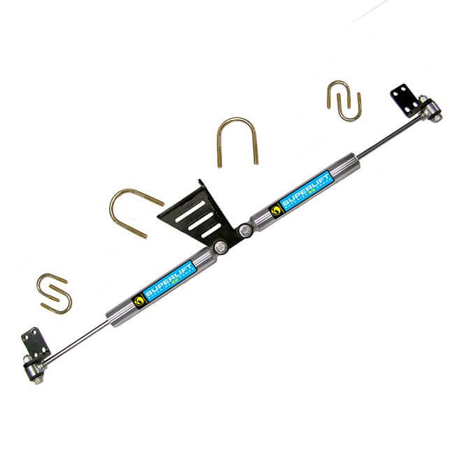 SuperLift High Clearance Dual Steering Stabilizer Kit