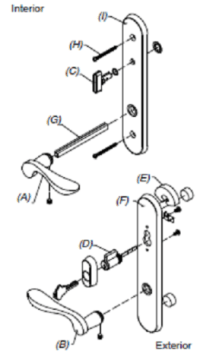 Marvin French Patio Door Handle Sets