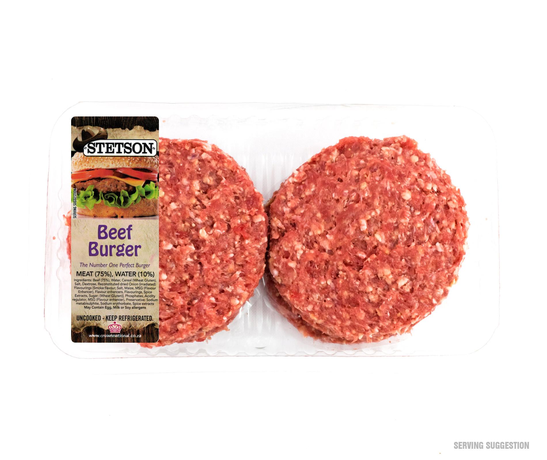 Stetson Beef Burger Patties - Fleisherei Online Butchery / Slaghuis