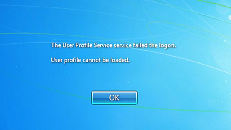 Cara Mengatasi Error : The User Profile Service failed the logon