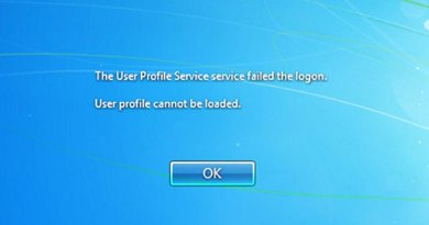 The User Profile Service windows 7 error