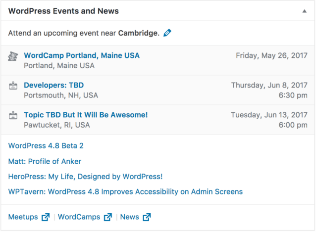 Nearby WordPress Events and News