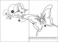 biglietto mamma-farfalle da colorare - Bimbi di Carta