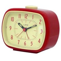 Alarm Clock - Retro Red - available from BIMBO ONLINE.