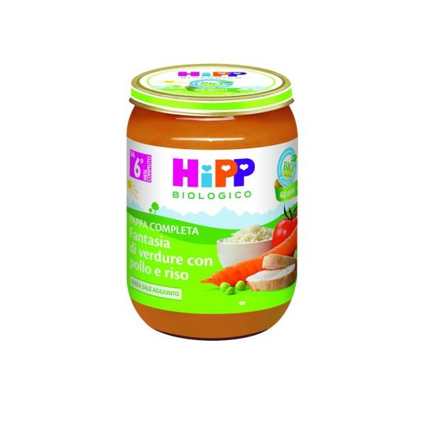 Hipp Pappe Pronte Fantasia di Verdure con pollo e riso 190g