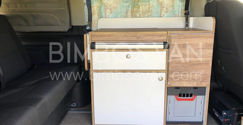 Mueble cocina lateral para VW T6  Bimbos Van  Furgonetas