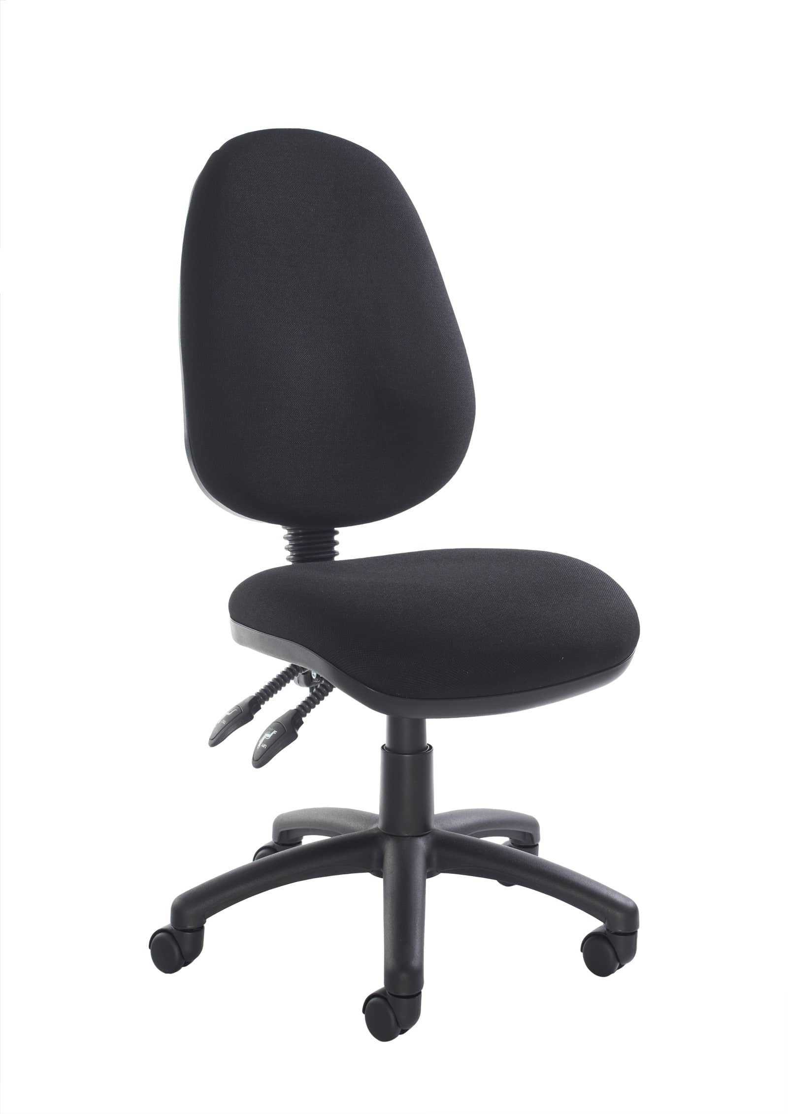 office chair without arms computer target fabric operator seating 2 lever black