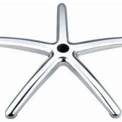 Office Chair Base Comfy Computer Chairs Wide Stylish Top Quality Heavy Duty Aluminium 5 Spoke With Castors