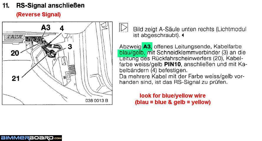 Bmw E90 Reverse Light Wiring Diagram