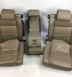 bmw e32 7 series parchment tan leather power rear seats cushions rh ebay com 1989 bmw 325i 1990 bmw 750il [ 1599 x 1177 Pixel ]