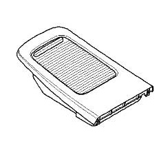 Rear Console Cover With Sliding Door- E92 M3 Coupe, E93 M3