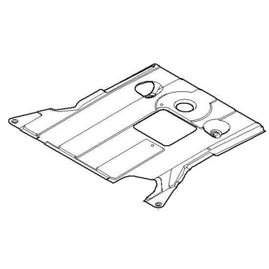 Genuine BMW Front Aggregate Protective Skid Plate