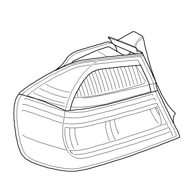 Black Line Tail Lamp, Left (In The Side Panel) E90 Sedan
