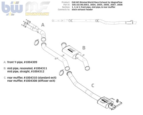 small resolution of e46 m3 section 1 bimmerworld by magnaflow racing y pipey pipe exhaust diagram 18