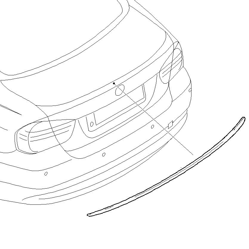E90 M3 4-Door Sedan Rear Trunk Lid Spoiler Lip (Fits 2006