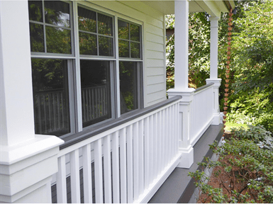 4 Pc 4 Wood Balustrade Wood Porch Railing American Porch | Wood Balustrades And Handrails | Balcony Railing | Deck Railing Ideas | Railing Systems | Wrought Iron Balusters | Stair Railings