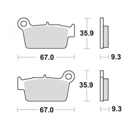Pastiglie freno posteriori sinterizzati Beta RR 2T/4T 2005