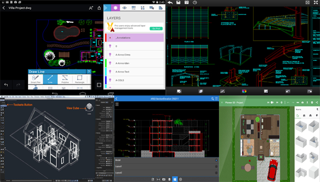 Top Five Android Apps for AutoCAD users