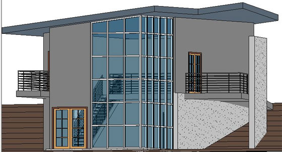 Roof Crickets and Flat Roofs created by Revit