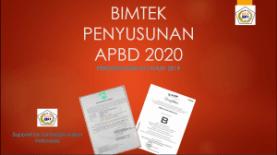 bimtek Penyususnan APBD 2020