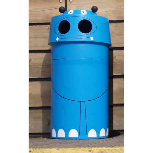 Hippo Animal Face Litter Bin 90 Litre Capacity Buy