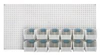 Q Peg Board Plastic Storage Bin Kit - PB-C-QUS230CL   Bin ...