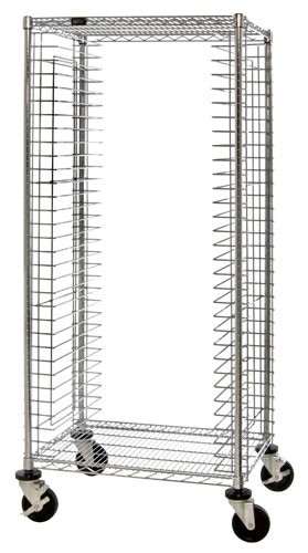 Conductive Systems Chrome Wire Shelving Deep ESD Tray Cart