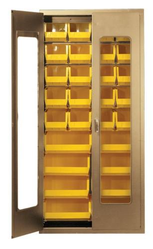 36W ClearView Door Medical Storage Cabinet  Plastic
