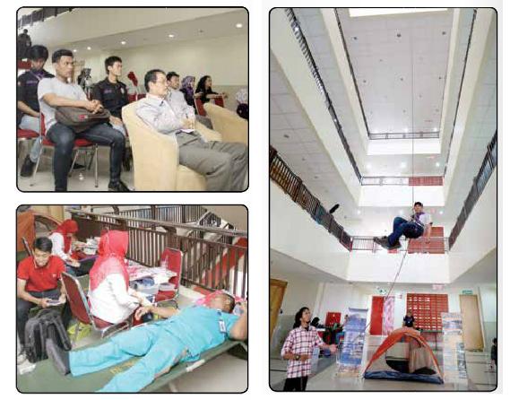 Mahasiwa Pencinta Alam (Mapala) Bina Darma Menggelar Bakti Sosial dalam Peringatan HUT Ke-20