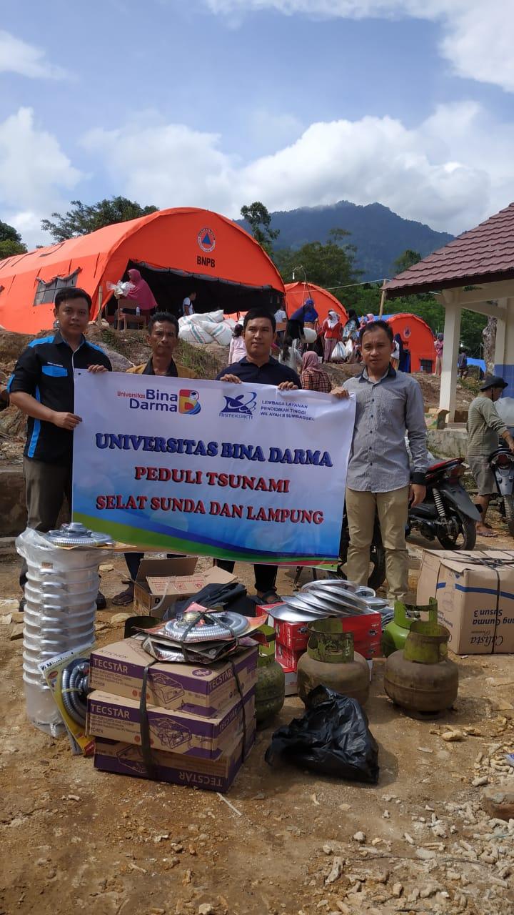 Universitas Bina Darma Peduli Bencana Tsunami Lampung dan Selat Sunda
