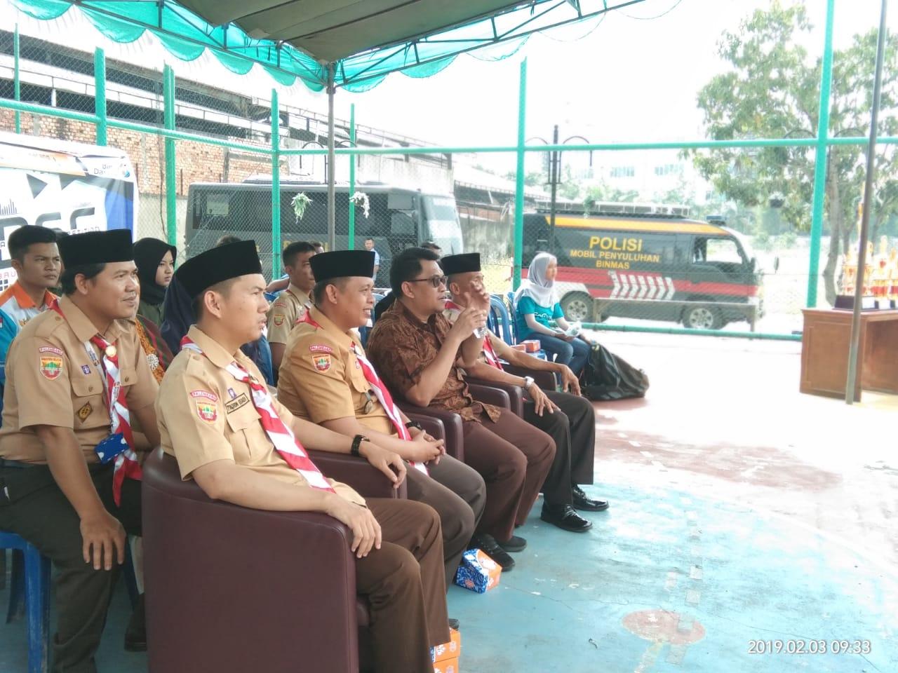 Wakil Rektor 1 Universitas Bina Darma Membuka Acara Bina Darma Scout Competiton 2019