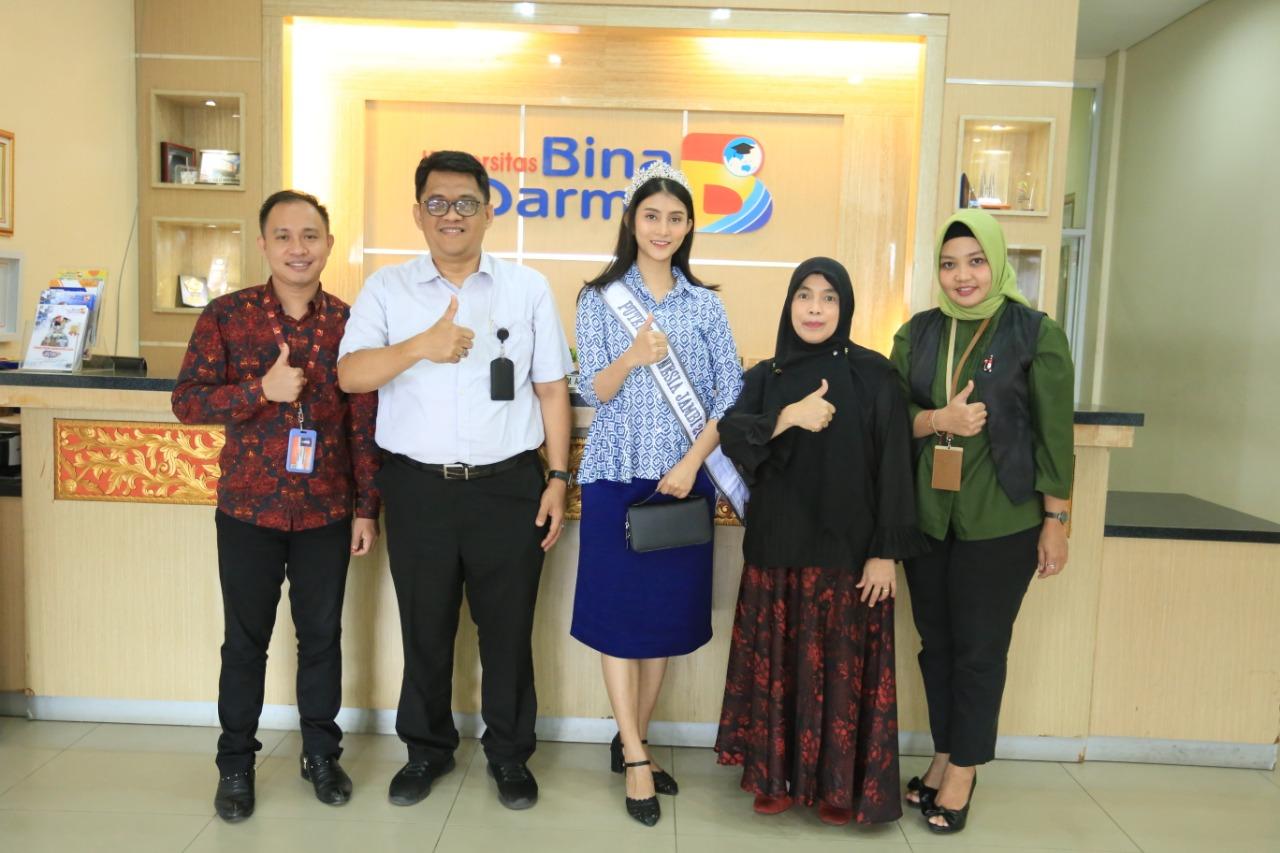 Audiensi Finalis Putri Indonesia 2020 ke Universitas Bina Darma