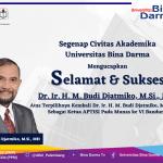 Selamat dan Sukses Kepada Bapak, Dr. Ir. H. M. Budi Djatmiko, M.Si., Terpilih Sebagai Ketua APTISI Munas ke VI di Bandung