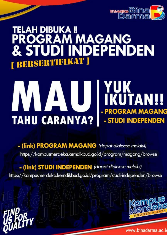 TELAH DIBUKA PROGRAM MAGANG & STUDI INDEPENDEN