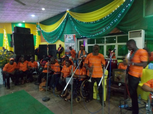 Bina Foundation musical band performs at the Enugu sports club
