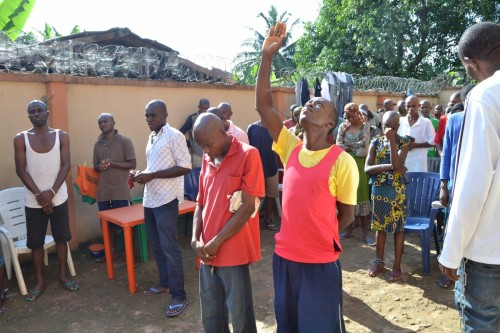Bina Foundation prays for the mentally challenged at a psychiatric home