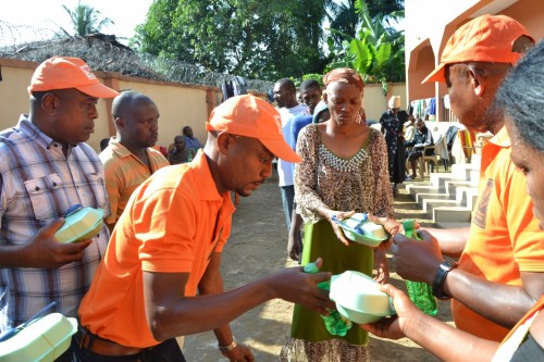 Bina Foundation serves food and drinks to the mentally challenged