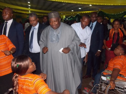 HE, Governor Ifeanyi Ugwuanyi, dances with persons with disability