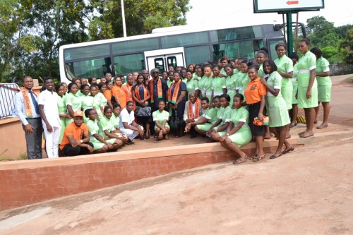The student nurses with the Chairman and some members of Bina Foundation