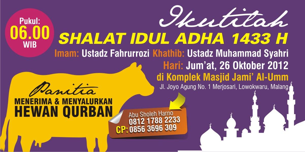 Shalat Idul Adha di Komplek Masjid Jami AlUmm Malang  YBM